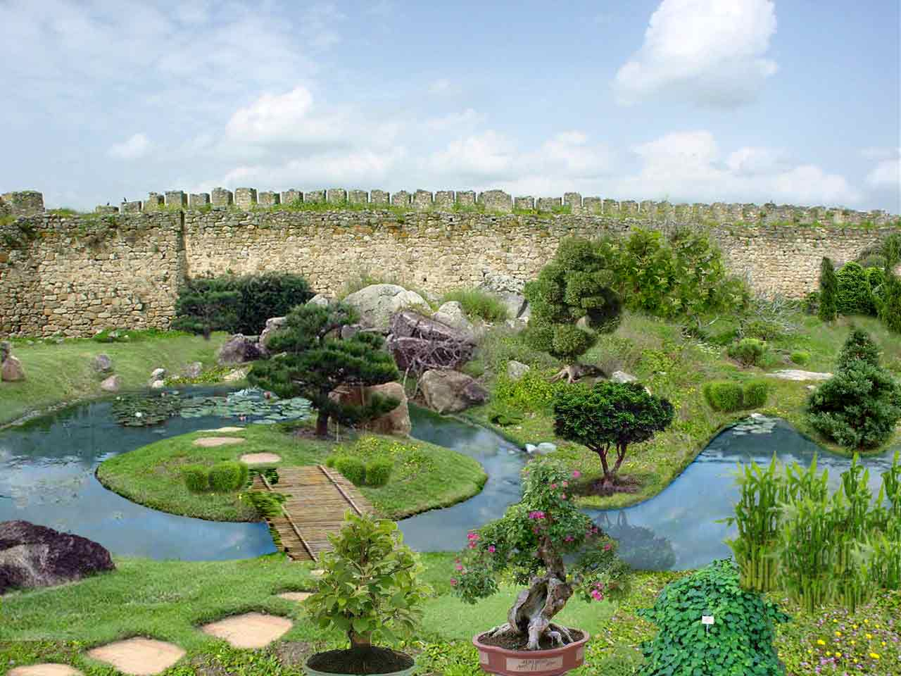 Jardin botanico de trujillo for Parques con jardines
